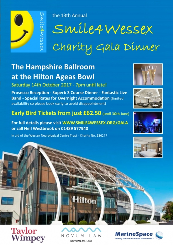 The 2017 Smile4Wessex Gala Dinner
