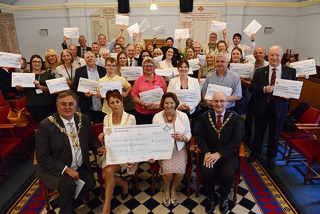 Local Freemasons Offer Tremendous Charity Support