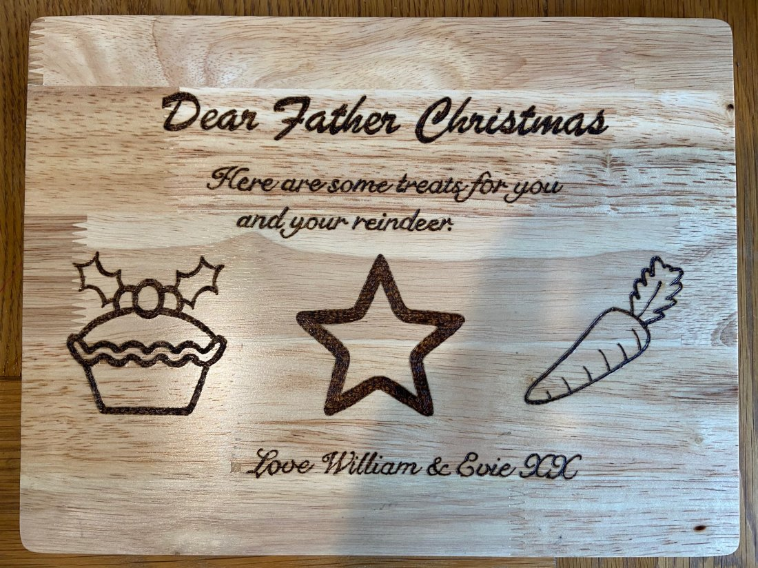 Personalised Christmas Eve Treat Boards