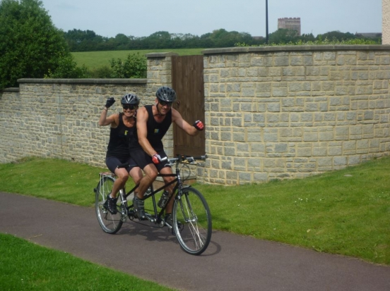 Locks Heath Couple's Tandem Ride is just Super