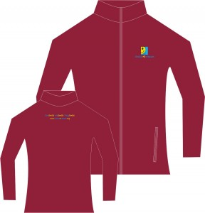 Men's Burgundy Micro Fleece Jacket